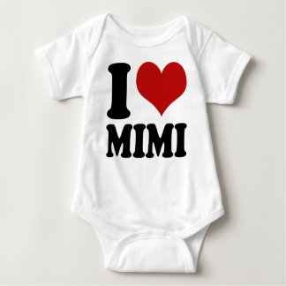 Cute I Heart Mimi Baby Bodysuit
