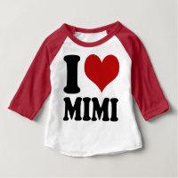 Cute I Heart Mimi Baby T-Shirt