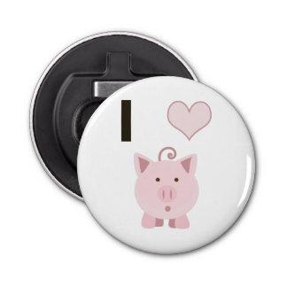 Cute I heart pigs Desgin Bottle Opener