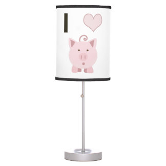 Cute I heart pigs Desgin Desk Lamp