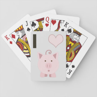 Cute I heart pigs Desgin Playing Cards