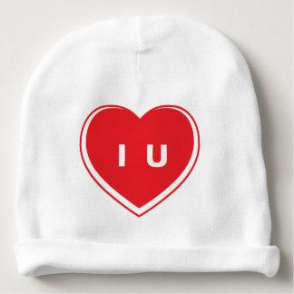 "Cute ""I Heart U"" Rabbit Skin Cotton Rib Infant Hat"