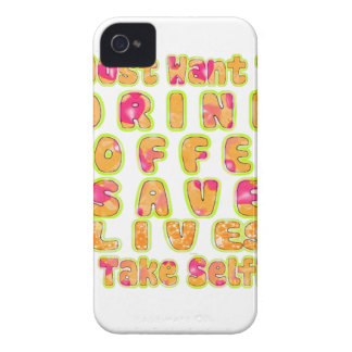 Cute I just want to Drink Coffee Save Lives and T Case-Mate iPhone 4 Case
