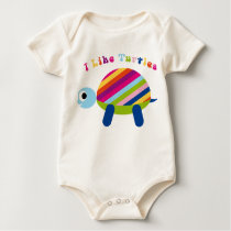 Cute I Like Turtles Baby Shirt Infant Creeper