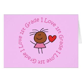 Cute I Love 1st Grade Card