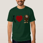 CUTE! I LOVE <3 BIGFOOT design - Finding Bigfoot T-shirt
