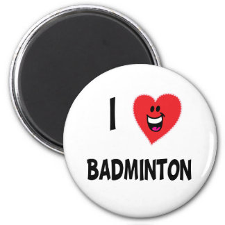 Cute I Love Badminton T-shirts & Gifts 2 Inch Round Magnet