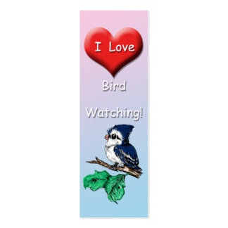 Cute I love Bird Watching Mini Bookmark Mini Business Card