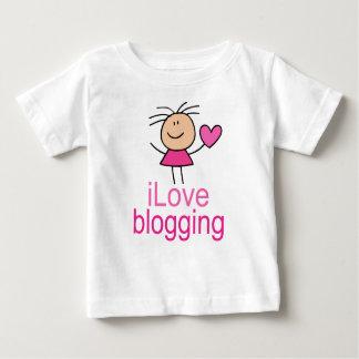 Cute I Love Blogging T-shirt Gift