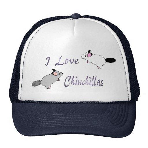 Cute I Love Chinchillas Hat