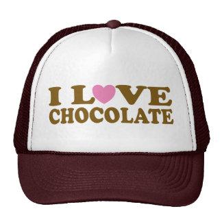 Cute I Love Chocolate Hat Gift