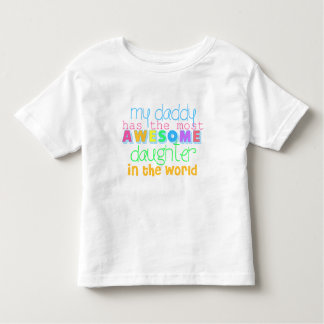 Cute I love Daddy Shirt for Toddlers