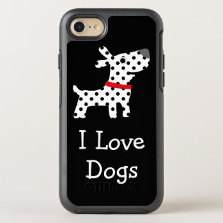 Cute I Love Dogs OtterBox Symmetry iPhone 7 Case