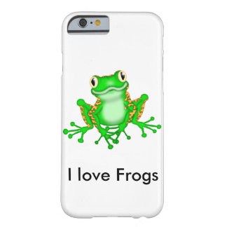Cute I Love Frogs Barely There iPhone 6 Case