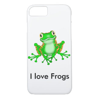 Cute I Love Frogs iPhone 8/7 Case
