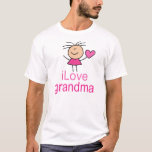 Cute I Love Grandma T-shirt