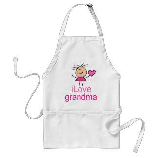 Cute I Love Grandma T-shirt Adult Apron