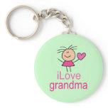 Cute I Love Grandma T-shirt Keychain