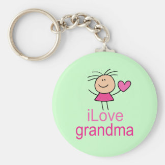 Cute I Love Grandma T-shirt Keychain