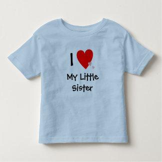 Cute I Love (Heart) My Little Sister T-shirts