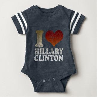 Cute I love Hillary Clinton Baby Bodysuit