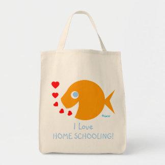 Cute I LOVE HOME SCHOOLING Teacher's Book Bag