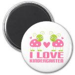 Cute I Love Kindergarten Ladybug Gift 2 Inch Round Magnet