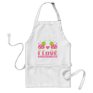 Cute I Love Kindergarten Ladybug Gift Adult Apron