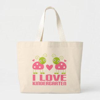 Cute I Love Kindergarten Ladybug Gift Canvas Bag