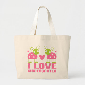 Cute I Love Kindergarten Ladybug Gift Large Tote Bag
