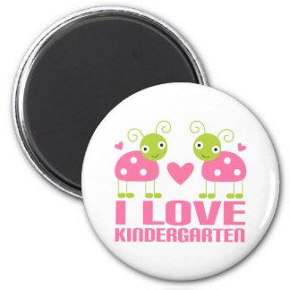 Cute I Love Kindergarten Ladybug Gift Magnet