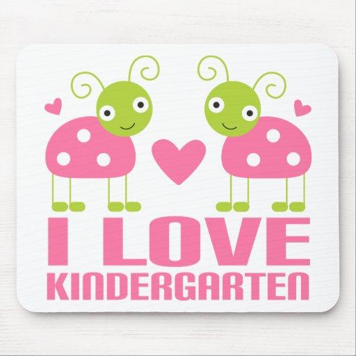 Cute I Love Kindergarten Ladybug Gift Mousepads