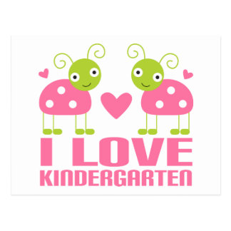 Cute I Love Kindergarten Ladybug Gift Postcard