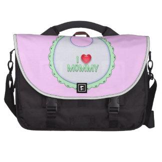 Cute I love Mommy Heart Bib Design Bag For Laptop