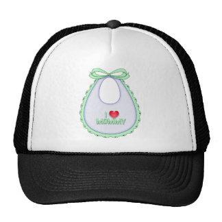 Cute I love Mommy Heart Bib Design Hats