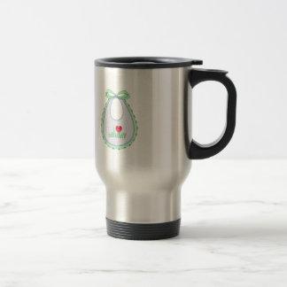 Cute I love Mommy Heart Bib Design Travel Mug