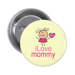 Cute I Love Mommy T-shirt Pin
