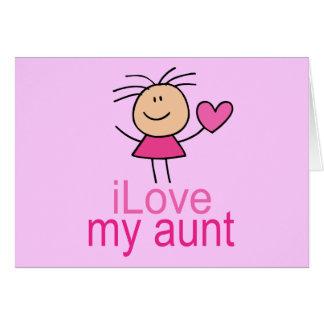Cute I Love my Aunt T-shirt Card