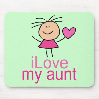 Cute I Love my Aunt T-shirt Mouse Pad