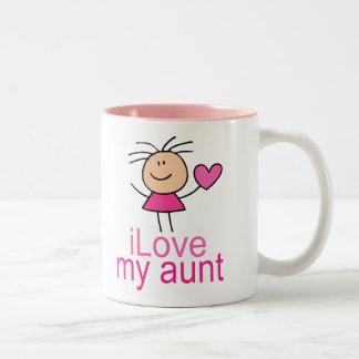 Cute I Love my Aunt T-shirt Coffee Mugs