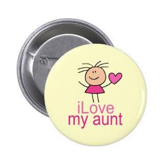 Cute I Love my Aunt T-shirt Pinback Button