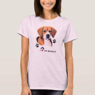 Cute I love My Beagle T-shirts
