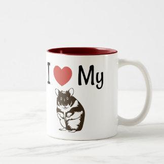 Cute I Love My Hamster Two-Tone Coffee Mug