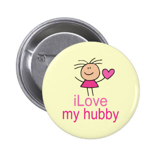 Cute I Love my Hubby T-shirt Pin