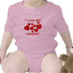 Cute I Love My Mommy Red Hearts New Mother T Shirt