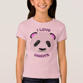 Cute I Love Pandas T-Shirt