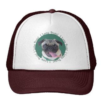 Cute I Love Pugs Design Trucker Hat