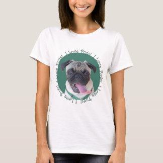 Cute I Love Pugs Dog Design T-Shirt
