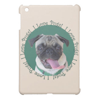 Cute I Love Pugs iPad Mini Covers