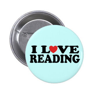 Cute I Love Reading Gift Pinback Buttons
